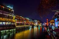 南京秦淮河夜景图片