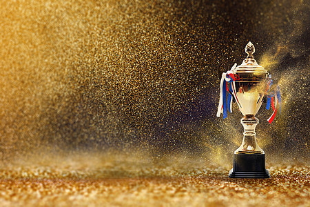 奖杯金色背景图片