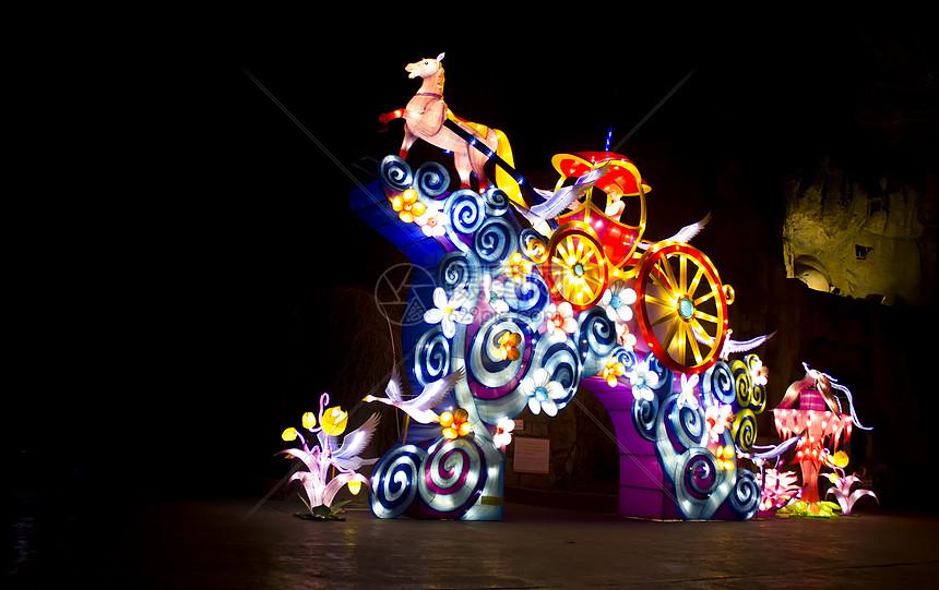 夜景灯节元宵节春节图片