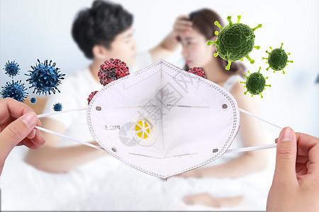 防止流感病毒图片
