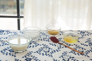 桂花酒酿汤圆食材图图片