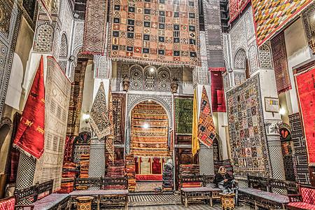 摩洛哥纯手工地毯图片