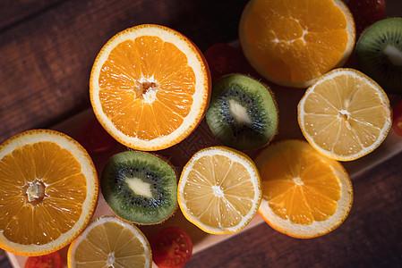 水果组合橙子猕猴桃图片