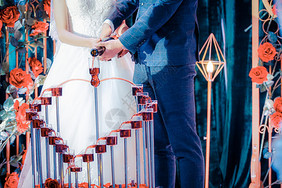婚礼香槟庆祝图片