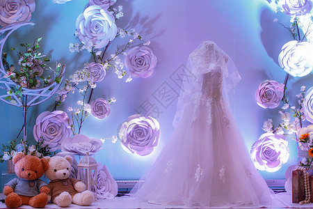 新娘婚纱礼服背景图片