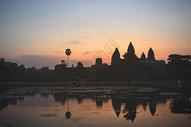 柬埔寨小吴哥日出图片