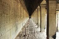 柬埔寨吴哥窟壁画走廊图片
