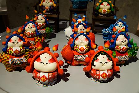 陶瓷手工艺品兔二爷图片