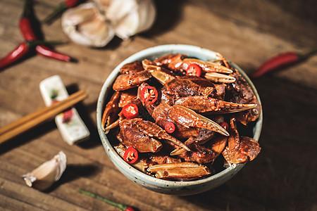 中式下酒菜美味香辣螃蟹爪图片