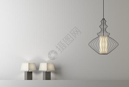 简约灯具组合背景图片