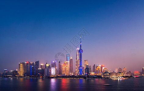 上海东方明珠城市建筑夜景图片