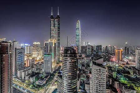 深圳城市地标夜景图片