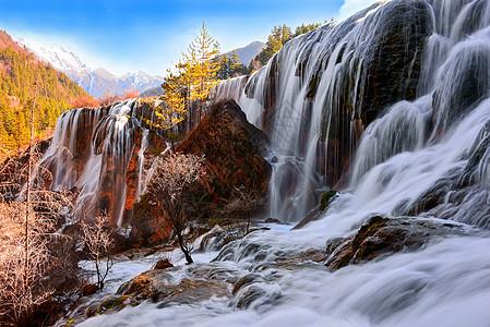 九寨沟之珍珠滩瀑布图片