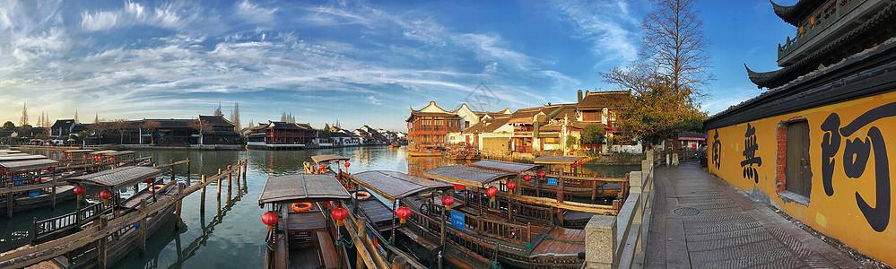 上海的江南古镇朱家角风光图片