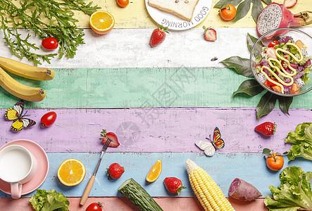 春季美食背景图片