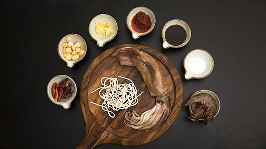辣海鲜炒面食材图图片
