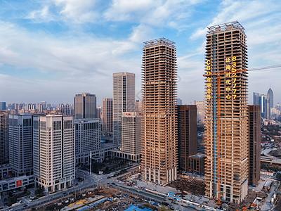城市在建中的高楼图片