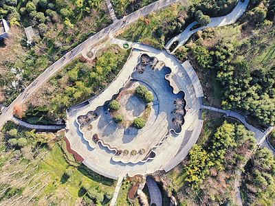 俯瞰武汉中央商务区公园图片