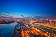 武汉城市中心夜景图片