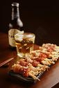 下酒菜啤酒培根金针菇卷图片