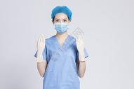 穿着手术服的医生图片