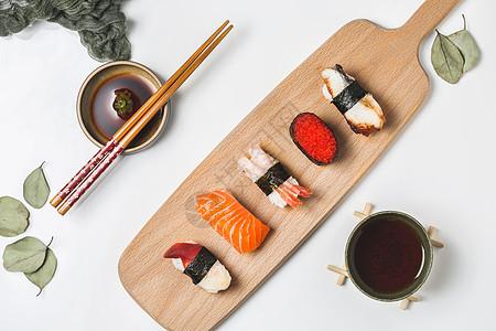 极简日料寿司刺身图图片
