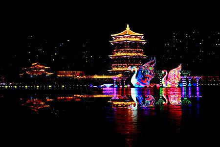 大唐芙蓉园灯会夜景图片