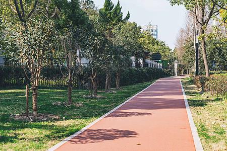公园塑胶跑道图片