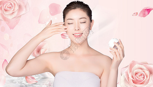 美白化妆图片