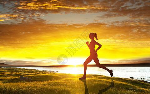 健康跑步背景图片