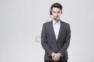 职业男性电话客服图片