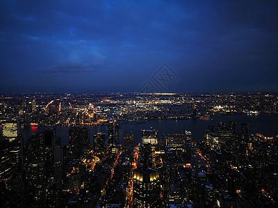 纽约帝国大厦城市夜景图片