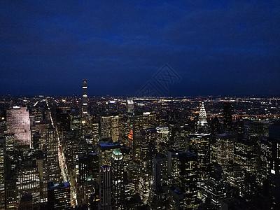 纽约帝国大厦城市夜景 图片