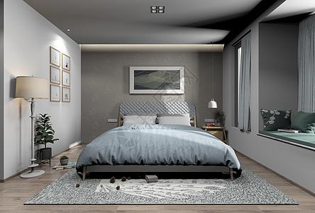 家居卧室效果图图片