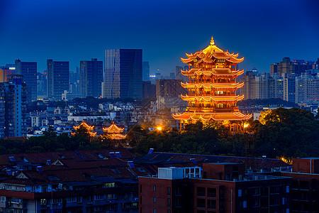 湖北武汉黄鹤楼夜景图片