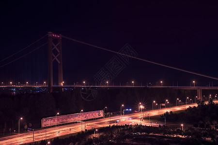 武汉阳逻长江大桥夜景图片