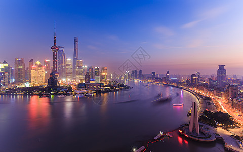 上海外滩陆家嘴夜景风光图片
