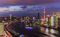 上海陆家嘴浦东新区夜景图片