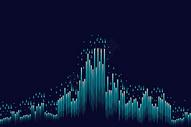 蓝色科技光纤背景图片