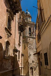 西西里岛中世纪巴洛克风格小镇图片