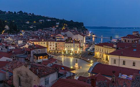 欧洲著名海滨城市夜景图片
