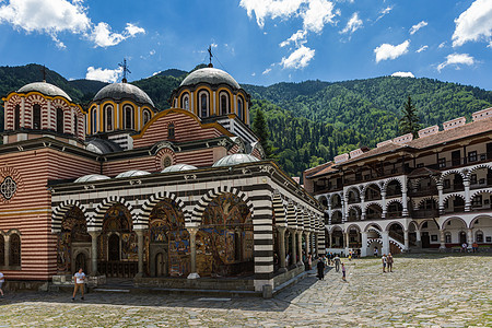 保加利亚深山里拉修道院图片