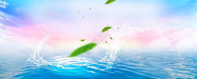 蓝色水滴水纹背景图片