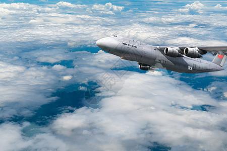 白云上的航空航空图片