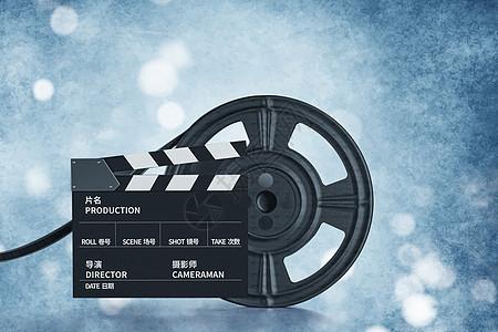 场记板与影片胶卷图片