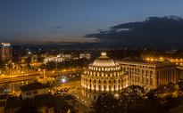 欧洲城市夜景天际线图片