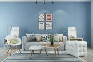 现代客厅背景图片