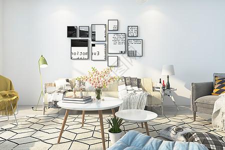 北欧客厅空间设计图片
