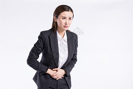 身体病痛商务女士图片