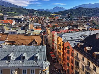 奥地利美丽的旅游城市因斯布鲁克图片
